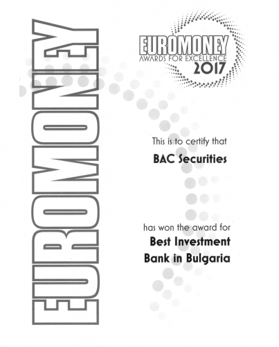 Euromoney 2017 Award BAC Securities