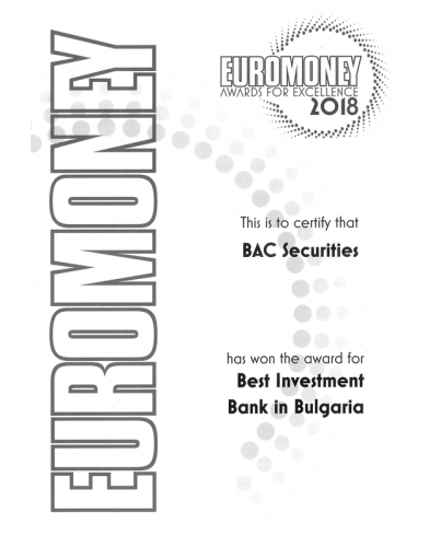 Euromoney 2018 Award BAC Securities